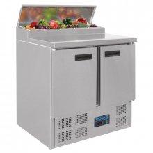 Mostrador Refrigerado para Elaboración de Pizzas y ensaladas de 2 puertas en Acero Inoxidable de 254 Litros G604 POLAR