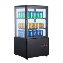 Expositor Refrigerado 4 caras cristal Sobremesa Negro de 58 litros XC58L-N
