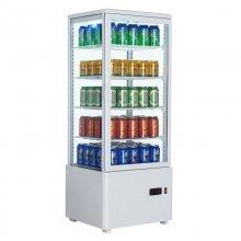 Armario Expositor Refrigerado 4 caras Sobremostrador Blanco 98 L XC98L-B