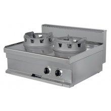 Cocina Wok a Gas de 400x700x290 (AxFxH) mm WR711S ARISCO
