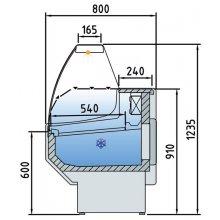 Vitrina Refrigerada Expositora Fondo 800 1 puerta VEC100