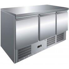 Mesa GN1/1 de 3 Puertas Refrigerada Compacta de 1365x700x860h mm S903TOP (OUTLET)