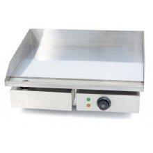 Plancha Eléctrica Cromo Duro Profesional en Acero 10 mm Económica de 550 x450 x240h mm IEG-818C