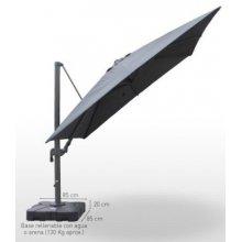 Parasol con mástil de aluminio Orientable con base DELUXE3X3