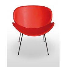 Sillón armazón cromado con asiento y respaldo tapizado polipiel NEBRASKA