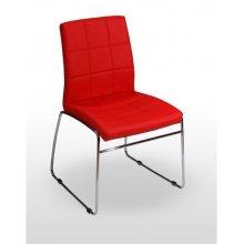 Silla con asiento polipiel y armazón cromado MANHATTAN