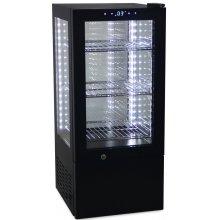 Vitrina Expositora Refrigerada 4 caras cristal de 65 litros G-65 (OUTLET)