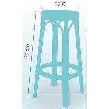 Taburete aluminio bambú con asiento personalizable ORLEANS