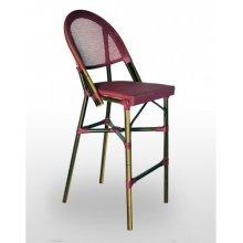 Taburete armazón aluminio 28x2 color dark bambú, asiento y respaldo Textilene TABURETE FLANDES