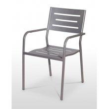 Sillón armazón, asiento y respaldo en aluminio ANDALUCÍA