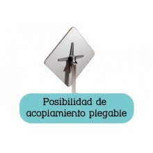 Mesa pie fundición aluminio brillo opción plegable ROMA 3 BRILLO