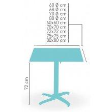 Mesa pie aluminio blanco LORENA-4 BL ABATIBLE