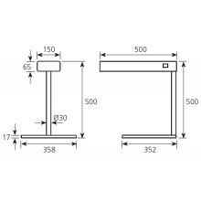 Pantalla mantenedora de calor 358x500x500mm PTC EDENOX