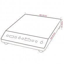 Inducción de sobremesa de 60-120°C y 10 niveles de potencia ISM-35 E EDENOX