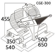 Cortadora de fiambre profesional de Engranajes CGE-300 EDENOX