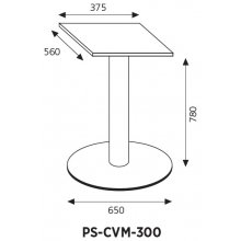 Pie soporte en columna para cortadora de fiambres manual CVM-300 PS-CVM-300 EDENOX