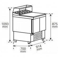 Mesa Refrigerada para preparación de ensaladas y pizzas Compacta MPGP-100-G HC EDENOX