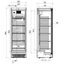 Armario Refrigerado Expositor de Bebidas de 1 puerta Con o Sin luminoso NLK-APE EDENOX