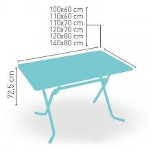 Mesa plegable armazón metálico acabado epoxi carta colores VARIATION-R