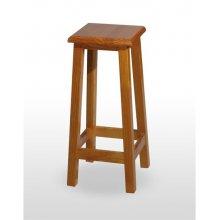 Taburete de madera de pino con asiento de madera TABURETE TOLEDO BAJO
