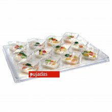 Conjunto de Bandeja + 12 Mini Tarrinas Rectangulares P100.109 PUJADAS (1 ud) (OUTLET)