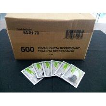 Caja de 500 uds de Toallitas Perfumadas color Blanco SP500 HOSTELCASH (1 caja)