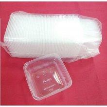 Paquete de 50 uds de Envases Cuadrados de 500cc Aptos para Microondas hasta 120º EMC500PP HOSTELCASH (1 paquete)