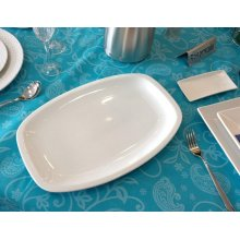 Fuentes de Porcelana de 38x25cm línea Malaga 01S0006 EURODRA (caja 3 uds)