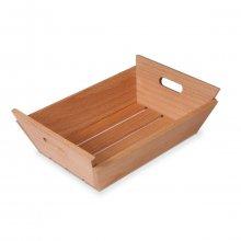Mini Caja de Madera Cuadrada para Pan de 21x21x7 cms 2006 SUPREMINOX (1 ud)