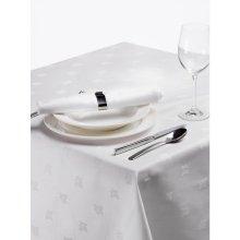 Mantel blanco Adamascado Hiedra 1370x1370mm algodón 100% CE492 (1 ud)