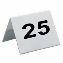 Caballetes números sobremesa 1 al 25 Blanco PVC 5x3,6cm 179.26 GDP (1 set)