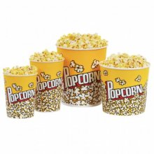 "Pack 25 uds Vasos Palomitas ""Pop Corn"" de Cartón Grueso Plastificado 1380ml 178.59 GDP (1 pack)"