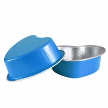 Pack 100 uds Recipientes Pasteleria Aluminio Azul 100ml 8.8x8.8x3cm 206.05 GDP (1 pack)