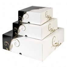 Pack 50 uds Cajas Pasteleria sin ventana 275g/m2 18x18x7.5cm Blanco Cartoncillo 204.64 GDP (1 pack)