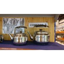 Cafetera Pava 1L con Fondo Sandwich Acero Inoxidable 18/10 68215 Lacor (1 ud)