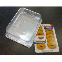 Expositor Alimentario GN de 1/2 de 118mm color Blanco 00288 ARAVEN(1 ud)