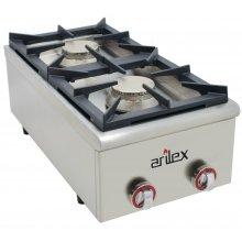 Cocina a gas serie BASIC fondo 75 cm de 2 fuegos con potencia 6 + 6 Kw 40CG75BASIC