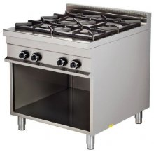 Cocina a gas 4 fuegos 4x8kw 850x900x900h mm GR921 ARISCO