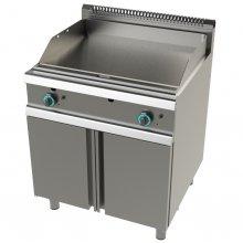 Fry tops a gas acero laminado placa lisa con mueble Serie 700 JUNEX con medidas 800x730x900h mm FT7N0LL