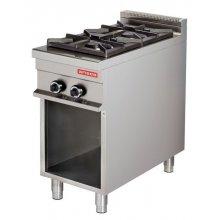 Cocina a gas 2 fuegos 2x8kw 425x900x900h mm GR911 ARISCO