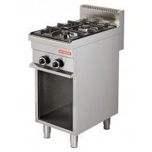 Cocina a gas 2 fuegos 6+6kw de 400x700x900h mm GR711 ARISCO