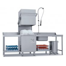 Lavavajillas Industrial Tipo Capota con Cesta de 50x50cm de 640 x740 x1480h mm CH800