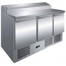 Mesa Preparación Ensaladas GN1/1 3 Puertas de 1365 x700 x1010h mm PS300