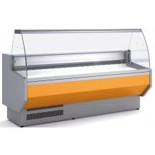 Vitrina Refrigerada DOCRILUC Cristal Curvo Fondo 800 de 2525 x800 x1230h mm VED-8-25-C