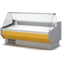 Vitrina Refrigerada DOCRILUC SIN RESERVA Cristal Recto Fondo 1100 de 2525 x1100 x1231h mm VEDS-10-25-R
