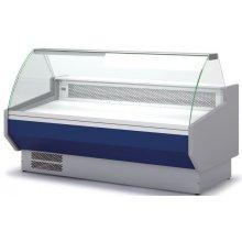 Vitrina Refrigerada DOCRILUC SIN RESERVA Cristal Curvo Fondo 1100 de 2025x1100x1231h mm VEDS-10-20-C
