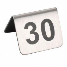 Caballetes números sobremesa 26 al 50 Inox 5,2x4,2cm 133.51 GDP (1 set)