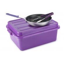 Caja Almacenamiento comida 38,1x50,8x17,8cm + Tapa Antialergico 1527-C80 Set Violet Pujadas (1 ud)