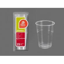 Vaso de Plastico Transparente Irrompible de 500 cc 249400 BESTPRODUCT (Pack 25 uds)